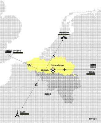 Map of Flanders
